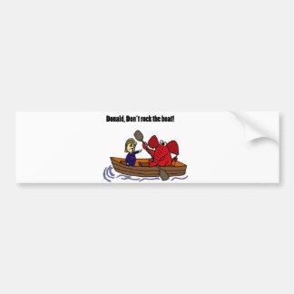 Funny Donald Trump Rocking the Boat Cartoon Bumper Sticker