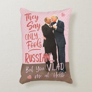 Funny Donald Trump Vladimir Putin Valentine's Day Decorative Cushion