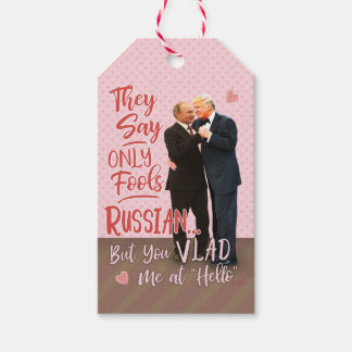 Funny Donald Trump Vladimir Putin Valentine's Day Gift Tags