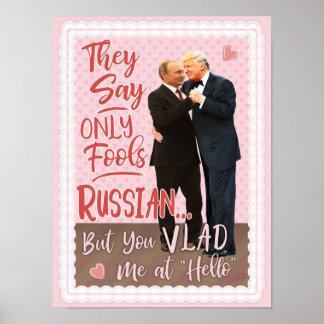 Funny Donald Trump Vladimir Putin Valentine's Day Poster