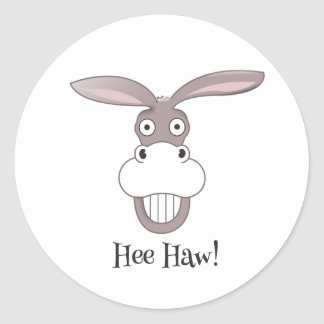 Funny Donkey Face Cartoon Sticker