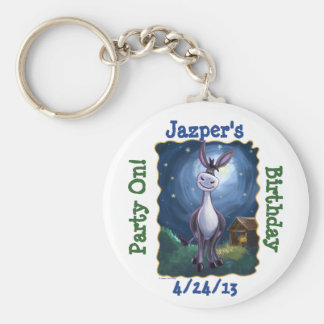 Funny Donkey Personalized Party Favor Key Chain