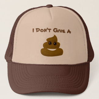 Funny Don't Give A Poo Emoji Trucker Hat