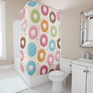 Funny Donut Shower Curtain