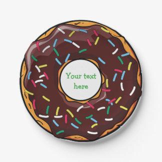 Funny Doughnut Desert Paper Plates