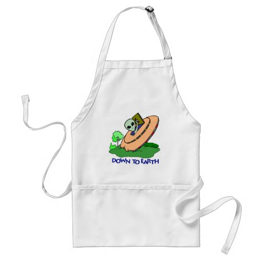 Funny Down To Earth Alien T-shirts Gifts Apron