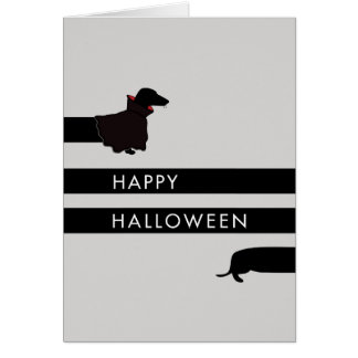 Funny Dracula Dachshund Halloween Card