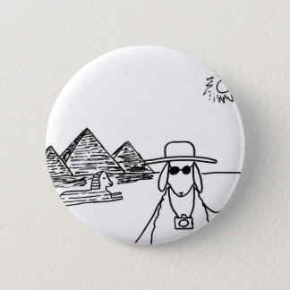 Funny drawings 6 cm round badge