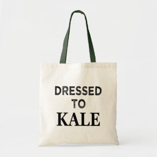 Funny Dressed to Kale tote bag