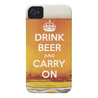 Funny drink beer and carry on Case-Mate iPhone 4 cases