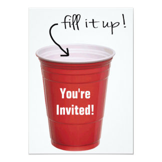 Funny Drinking Empty Cup Booze Party Card