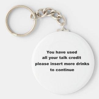 funny drinking slogan basic round button key ring