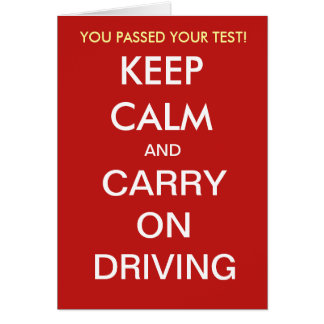 Funny Driving Test Pass Slogan Quote Add Caption Card