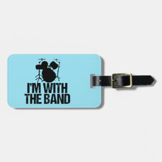 Funny Drums Custom Band Luggage Tag