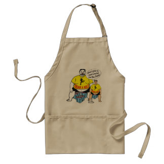 Funny Drunk Father & Son Apron