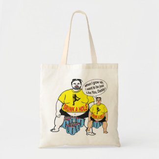 Funny Drunk Father & Son Tote Bag