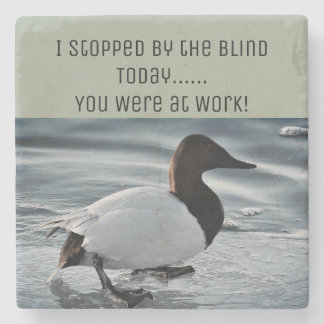 Funny Duck Hunting Stone Coaster