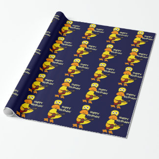 Funny Duck Playing Guitar Wrapping Paper