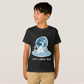 funny duck with hat mono color sweet cartoon T-Shirt