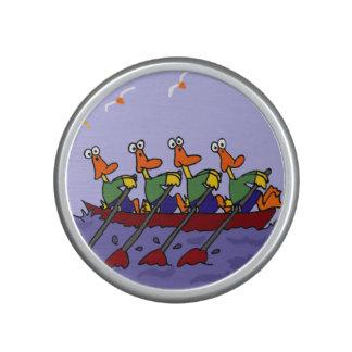 Funny Ducks in a Row Boat Cartoon Speaker
