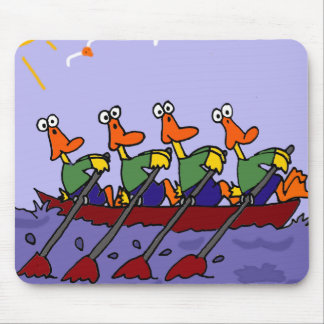 Funny Ducks in a Row Cartoon Mouse Pad