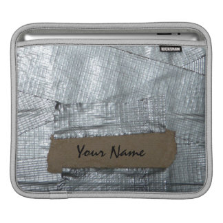 Funny Duct Taped Personalized Ipad Sleeve