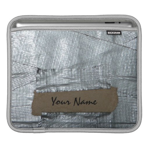 Funny Duct Taped & Personalized  Ipad Sleeve