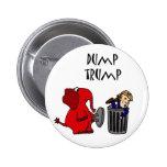 Funny Dump Trump Political Cartoon Art 6 Cm Round Badge