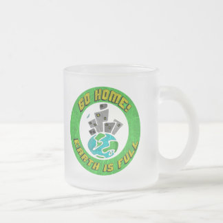 Funny Earth Is Full T-shirts Gifts Frosted Glass Mug