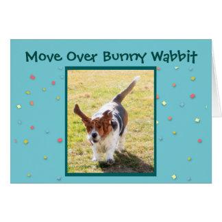 Funny Easter Basset Hound on Easter Card