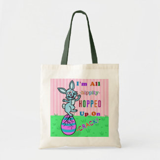 Funny Easter Bunny Cracked Egg Humor Budget Tote Bag