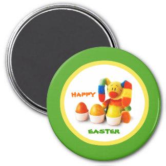 Funny Easter Bunny. Easter Gift Magnet Fridge Magnets