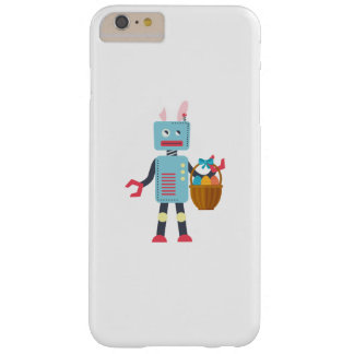 Funny Easter Robot Easter Bunny for Boys Girls Barely There iPhone 6 Plus Case