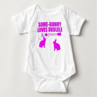 Funny Easter Ukulele Baby Bodysuit