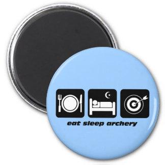 Funny eat sleep archery magnet