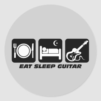 Funny eat sleep guitar stickers