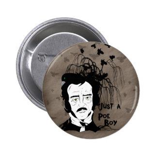 Funny Edgar Allen Poe Quote Button