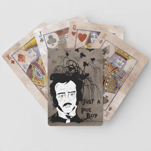 Funny Edgar Allen Poe Quote Playing Cards