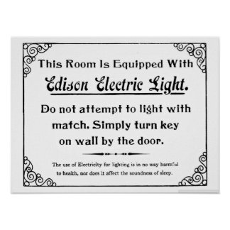 Funny Edison Electric Light Poster