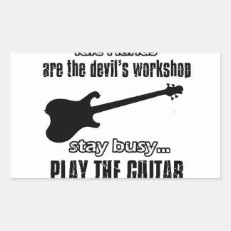 Funny electric guitar designs sticker