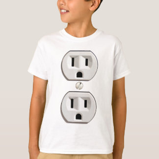 Funny Electrical Outlet Costume T-Shirt