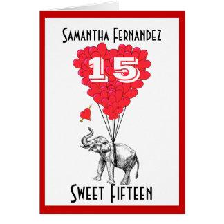 Funny elephant sweet Fifteen Cards