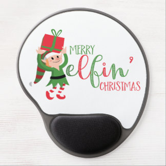 Funny Elf Merry Elfin' Christmas Gel Mouse Pad