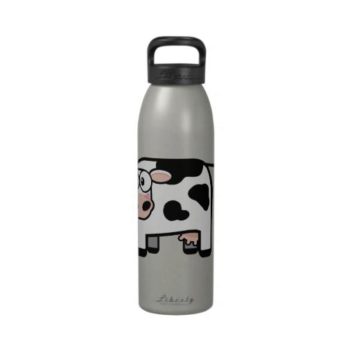 Funny Embarrassed Pooping Cow Water Bottle