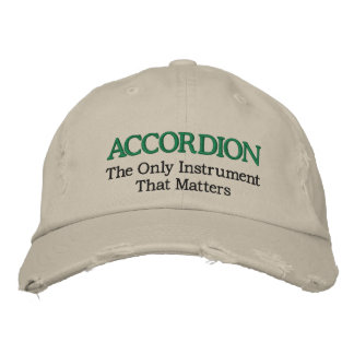 Funny Embroidered Accordion Music Hat Embroidered Cap