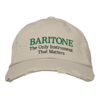Funny Embroidered Baritone Music Hat Baseball Cap