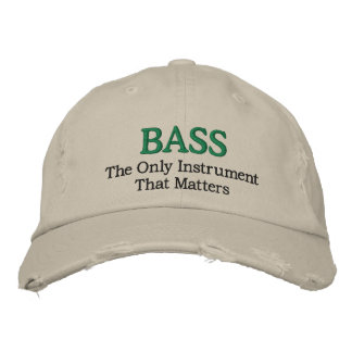Funny Embroidered Bass Music Hat Baseball Cap