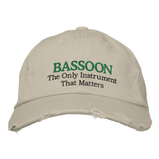 Funny Embroidered Bassoon Music Hat Embroidered Hats