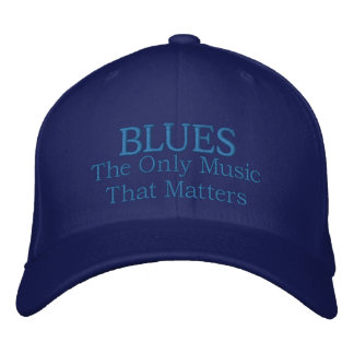 Funny Embroidered Blues Music Cap Embroidered Hats