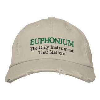 Funny Embroidered Euphonium Music Hat Embroidered Hats